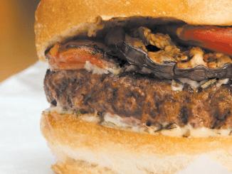 American Lamb Cheeseburger with Spicy Yogurt Sauce