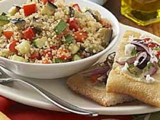 Quinoa Salad with Zucchini, Eggplant and Peppers