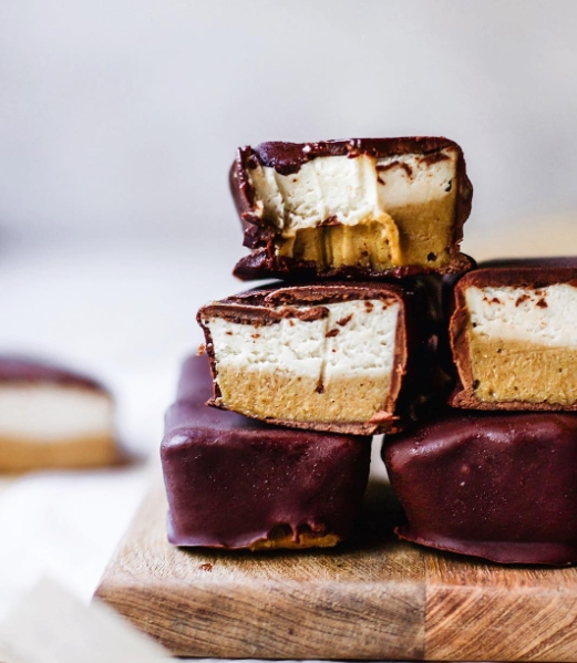 No Bake Caramel Nougat Bars