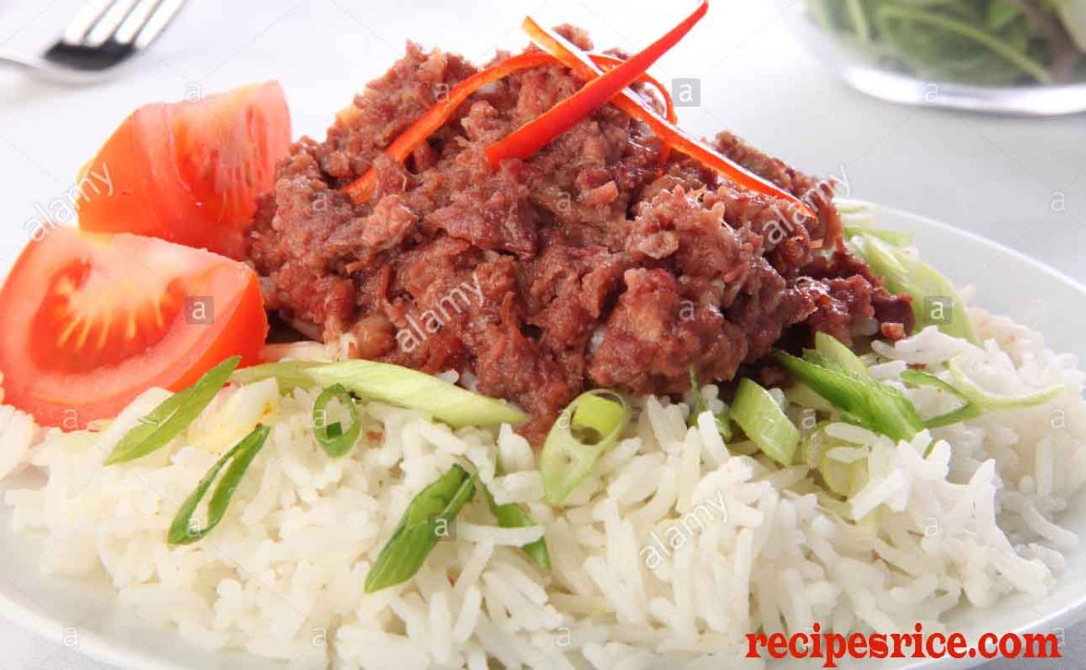 rice and-beef hash