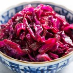 Slow Cooker Sweet and Sour Braised Red Cabbage