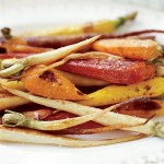 Roasted Rosemary Caramelized Parsnips Carrots (Cuisinart Steam Convection Oven)