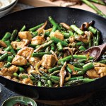 Ginger Chicken Asparagus & Shiitake Mushrooms  Stir-Fry