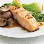 Asian Salmon with Mushrooms and Bok Choy (with Cuisinart Convection steaming oven directions)