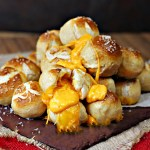 Cheesy Stuffed Pretzel Bombs