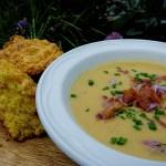 Roasted Potato Fennel Chorizo Soup