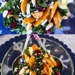 Kale Salad with Roasted Grapes & Butternut Squash