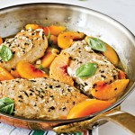 Peach & basil chicken breasts