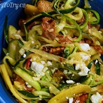 Garlicky Zucchini Noodles with Prosciutto & Apple