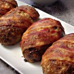 Mini Bacon-Wrapped Meatloafs