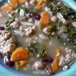 Kale Mixed Bean Turkey Sausage Soup