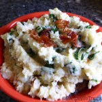 Lighter Irish Colcannon (Potatoes , Cauliflower, Kale Mash)
