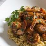 cajun shrimp with dirty rice