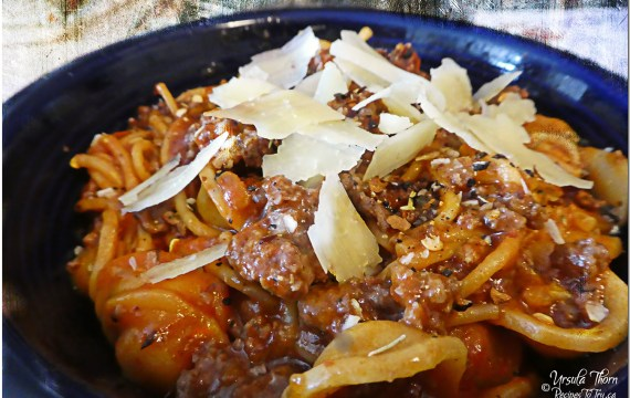 Instant Pot Mini Spaghetti with Herb Enhanced Meat Sauce