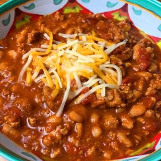 Instant Pot White Bean and Turkey Chili