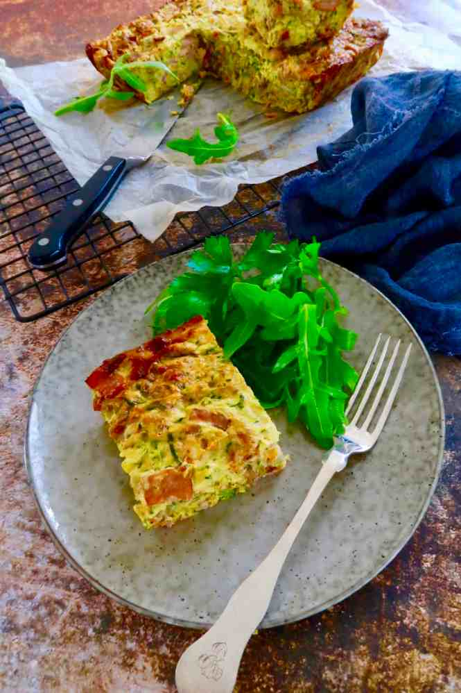 Zucchini and Bacon Slice