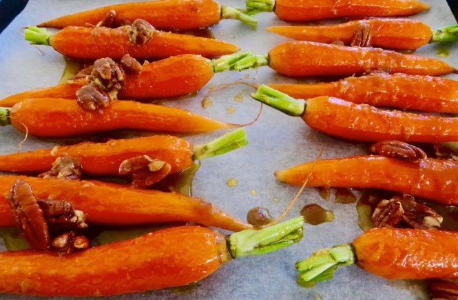 Brown Sugar and Ginger Glazed Carrots
