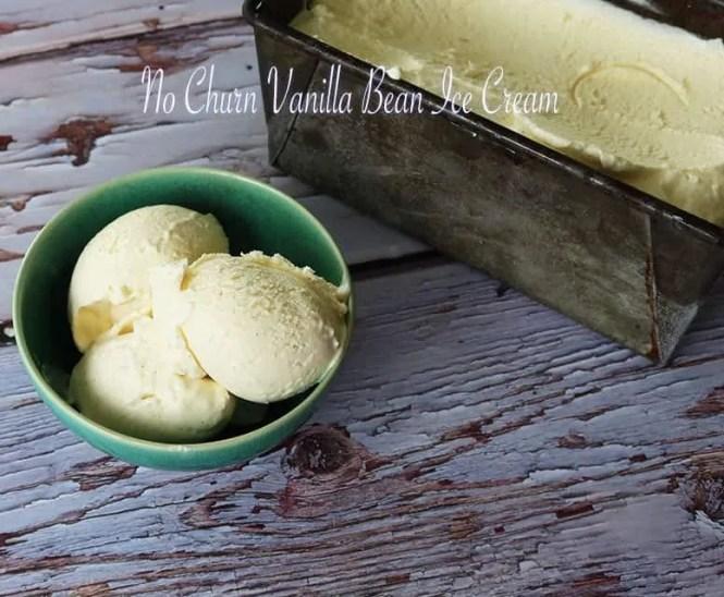 No Churn Vanilla Bean Ice cream