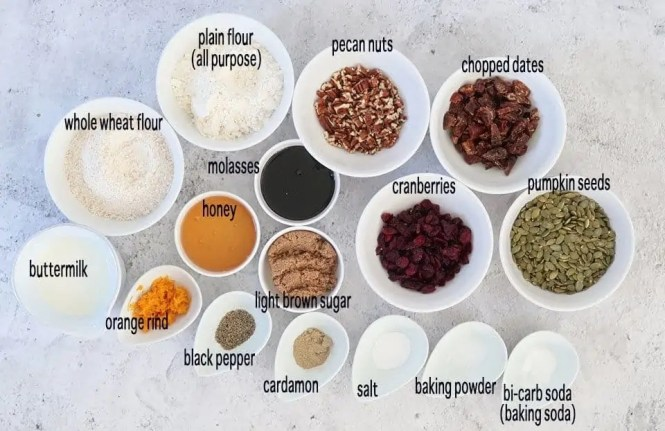 ingredients to make homemade gourmet crackers