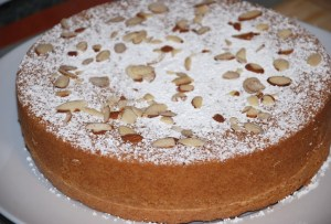 Almond cake all dressed up
