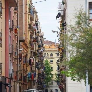 Au détour d'une rue de Barceloneta, Barcelone.