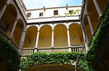 Cour intérieur d'une maison espagnole de Barcelone