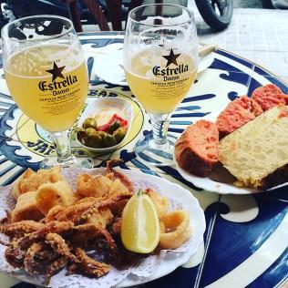 Assiettes de Tapas et Cervesa, Barcelone