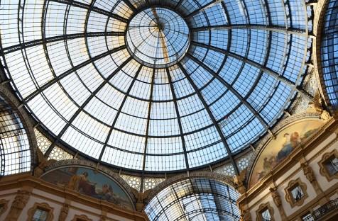 Plafond de verre de la Milan Galleria Vittorio Emanuele II