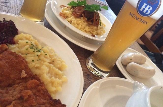 Plat typiquement Bavarois, bière