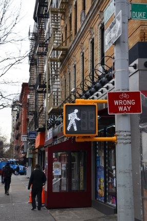Panneau Wrong Way, New York