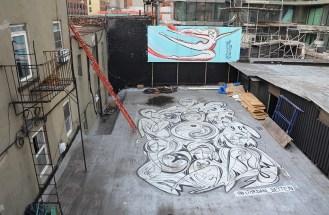 Street art sur la High Line, New York