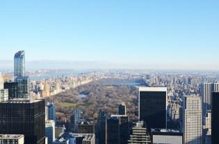 Vue sur Central Park et Manhattan depuis le Rockefeller Center, New York