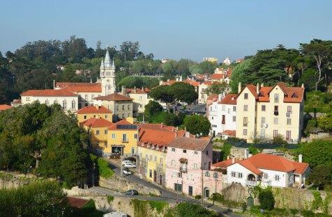 Vue sur les toits de Sintra, Portugal