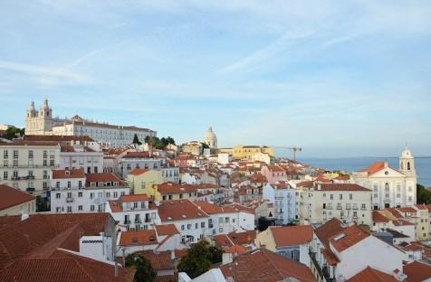 Vue sur les toits de Lisbonne, Portugal