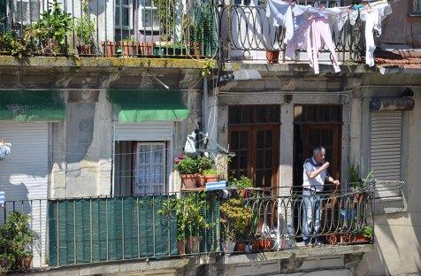 Façade de linge à Porto