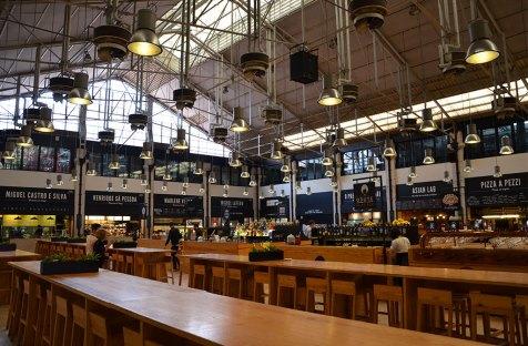 Architecture du marché de Lisbonne, Portugal
