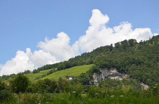 Vue sur les montagnes Suisses