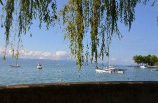 Vue sur le Lac Léman et ses bâteaux