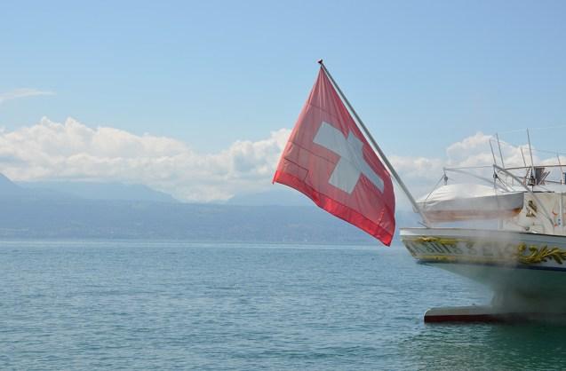 Vue sur le Lac Léman depuis Lausanne, Suisse