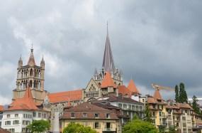 Vue sur les toits de Lausanne, Suisse