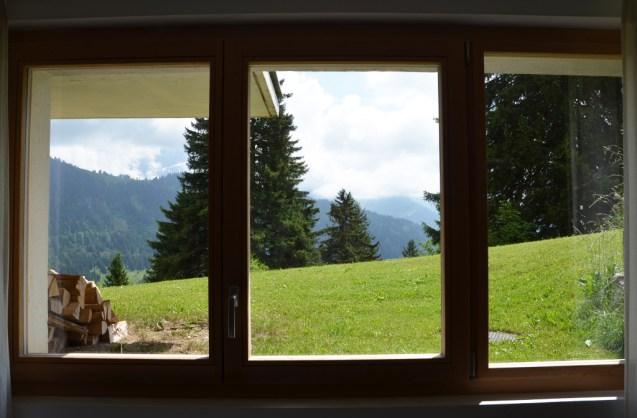 Vue depuis la chambre du chalet les Trois Ours