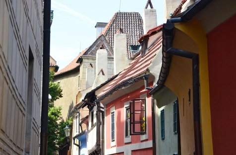 La ruelle d'or et ses façades colorées, Prague