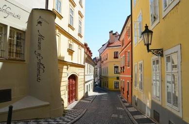 Ruelle colorée de Prague