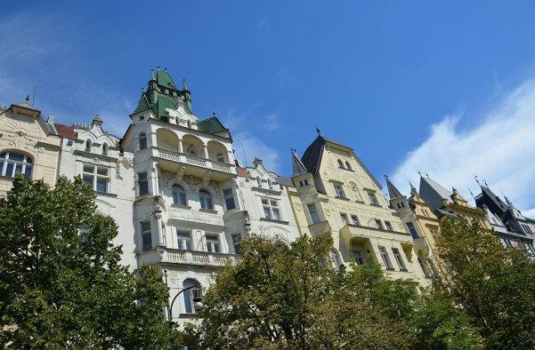 Façades du quartier juif de Prague