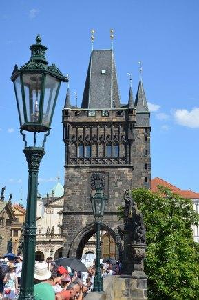 Depuis le pont Charles, Prague