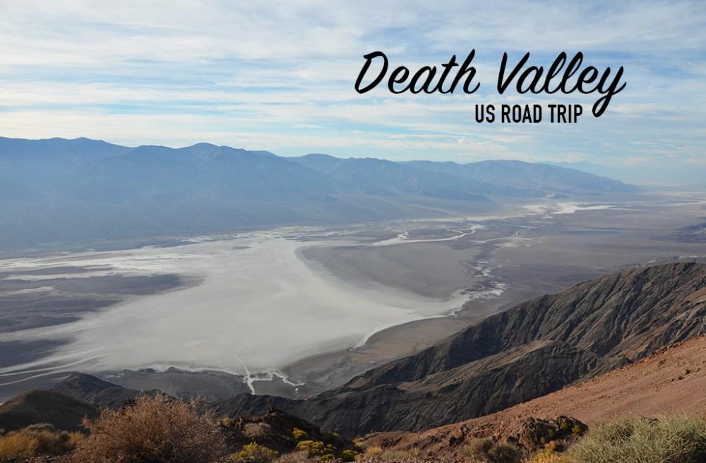 Vue de dessus de la Death Valley, US road trip