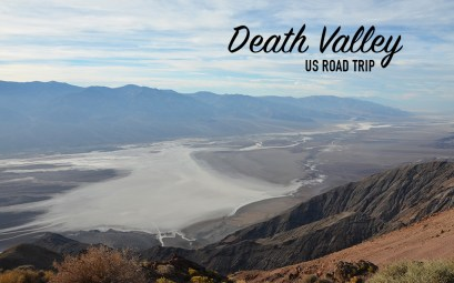 Vue de dessus de la Death Valley, US road trip