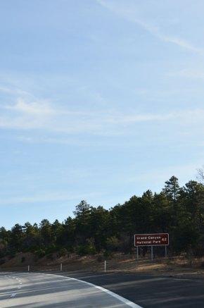Panneau Grand Canyon en bord de route