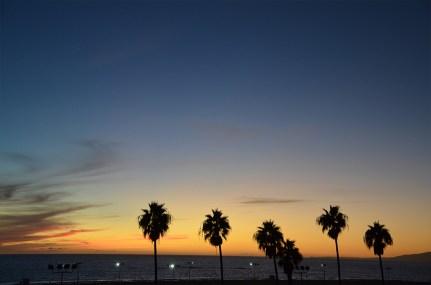 Coucher de soleil sur Santa Monica, Los Angeles