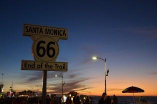 Coucher de soleil sur Santa Monica Pier, Los Angeles